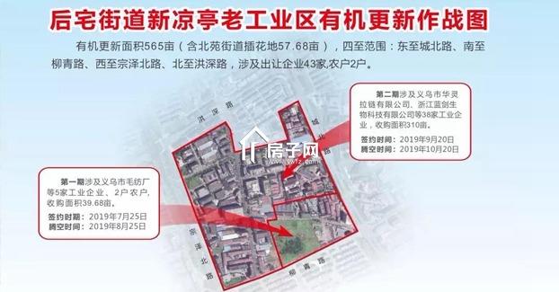 涉及土地565亩,义乌后宅新凉亭老工业区有机更新进展